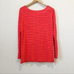 Loft red lightweight sweater women size small